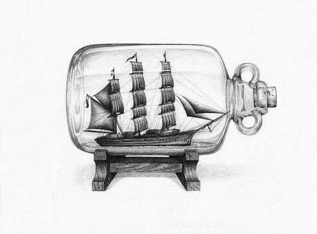Pullossa oleva laiva